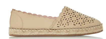 Nude Laser-cut Espadrilles, Dune London