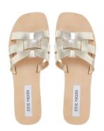 Gold Flat Sandals, Steve Madden