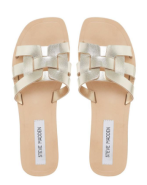 Gold Flat Sandals, Steve Madden