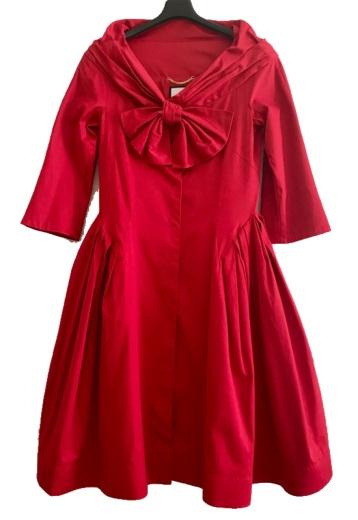Moschino red coat dress