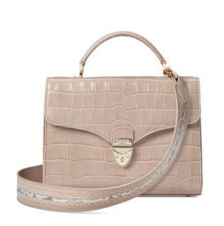 Mayfair bag in taupe (wide strap)