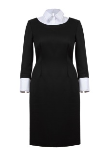 black collar dress