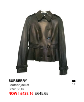 burberry leather jacker