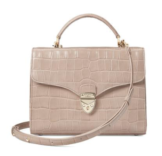 Mayfair bag in taupe (narrow strap)