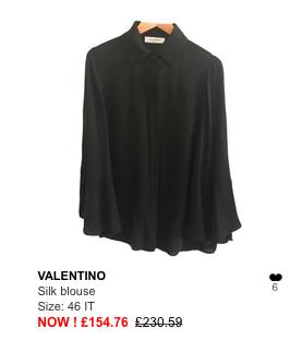 valentino black blouse