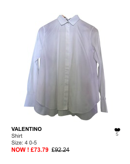 valentino white shirt
