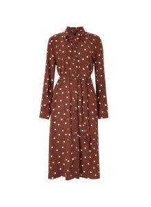 cinnamon polka dress