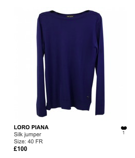 Loro Piana blue jumper