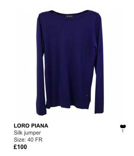 Loro Piana blue jumper