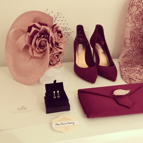 pink and burgundy