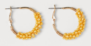 H&M beaded hoops